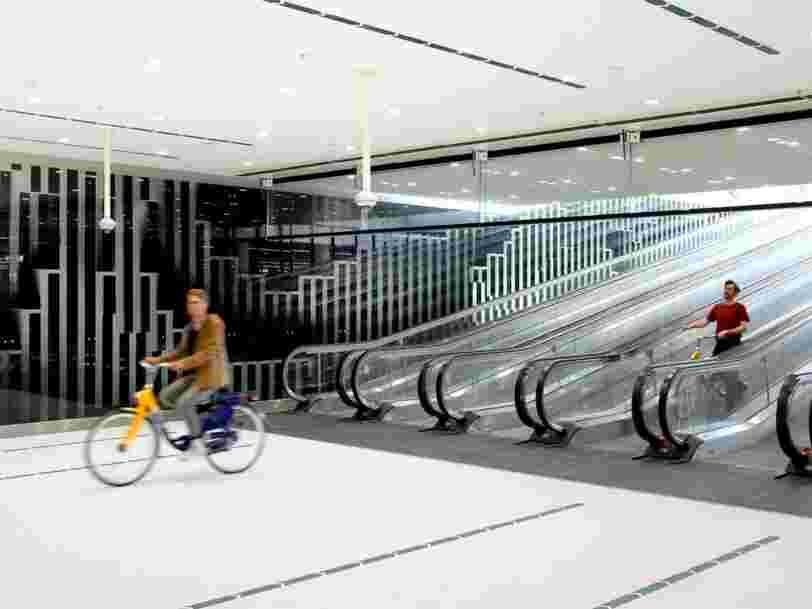 Voici l'un des plus grands garages à vélos d'Europe, aux Pays-Bas