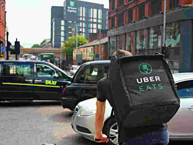 Uber gagne plus avec les livraisons de repas qu'avec les courses en VTC pour la première fois