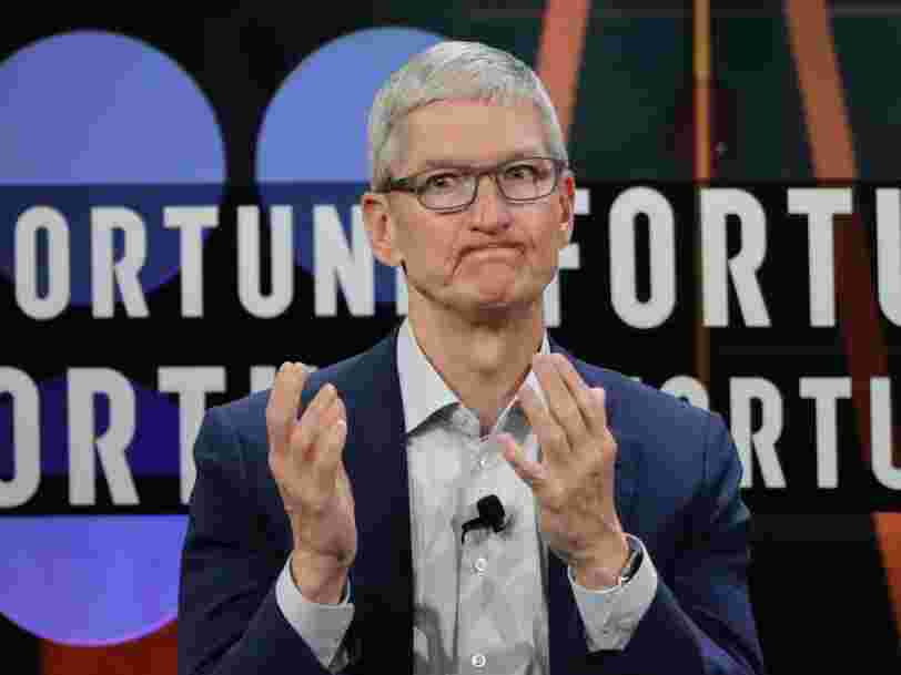 Tim Cook, le DG d'Apple, est maintenant milliardaire
