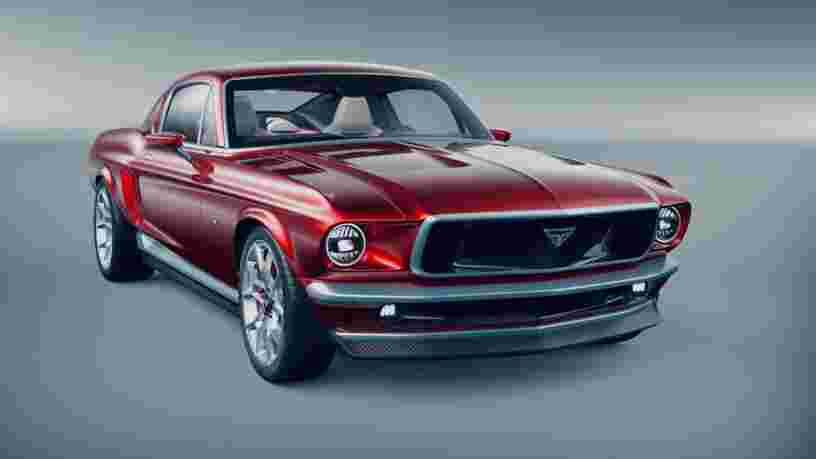 Cette Mustang de fabrication russe est en fait une Tesla Model S déguisée