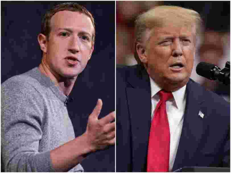 Mark Zuckerberg aurait joué un rôle dans la décision de Donald Trump d'interdire TikTok