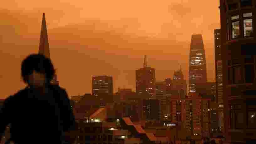 Des photos saisissantes montrent le ciel orange au-dessus de San Francisco en raison de feux de forêt