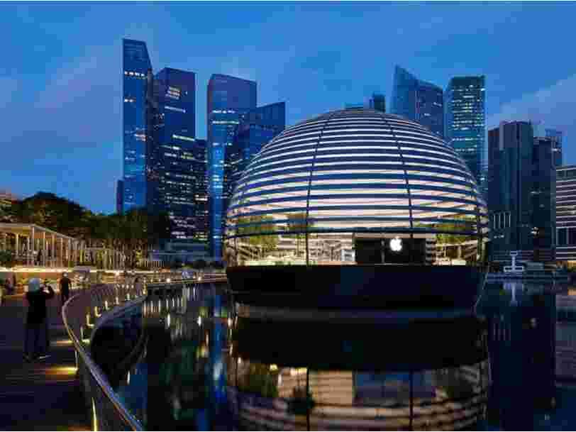 Voici à quoi ressemble le premier Apple Store flottant à Singapour