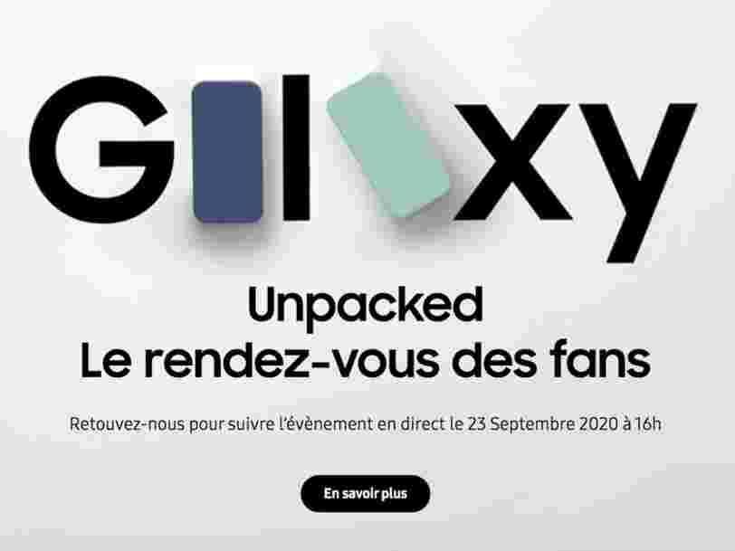 Samsung devrait dévoiler son Galaxy S20 Fan Edition le 23 septembre