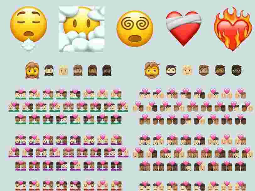 Voici les 217 nouveaux emoji qui arriveront sur votre téléphone en 2021