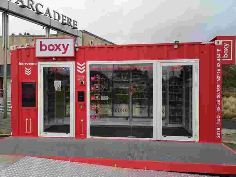 On a testé Boxy, le magasin 100% autonome qui tient dans un conteneur de 15 m²