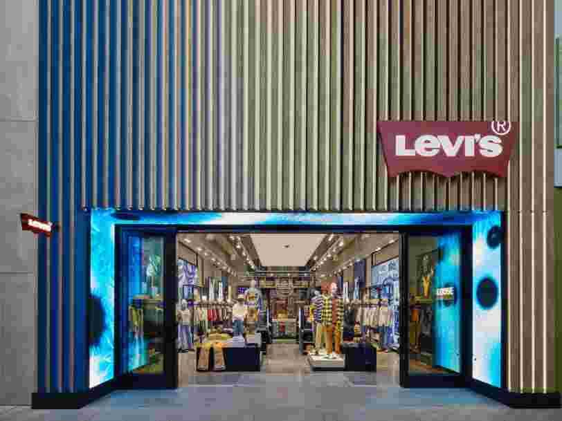 Voici l'un des nouveaux magasins futuristes 'NextGen' de Levi's
