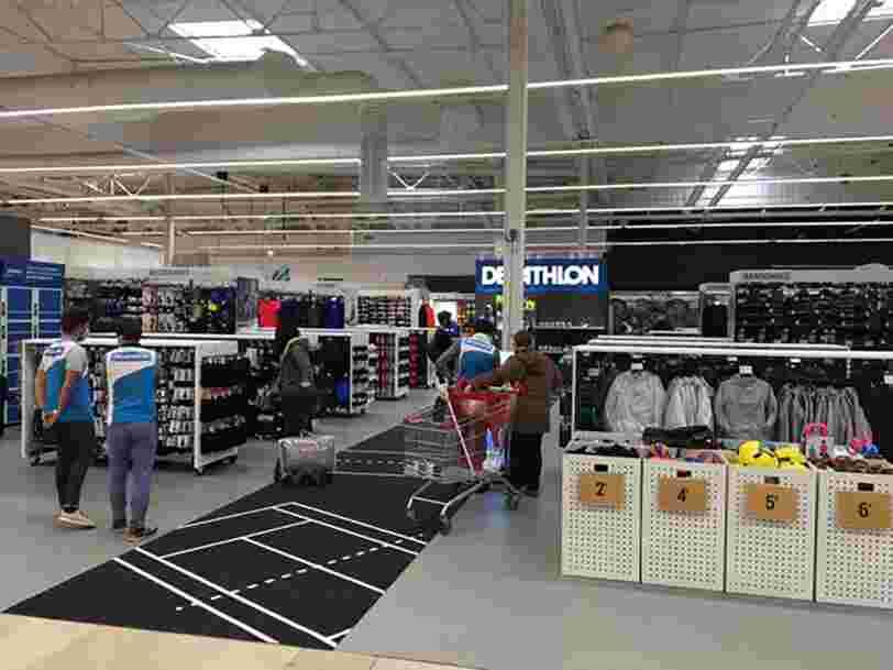 Decathlon ouvre un véritable magasin à l'intérieur d'un hypermarché Auchan