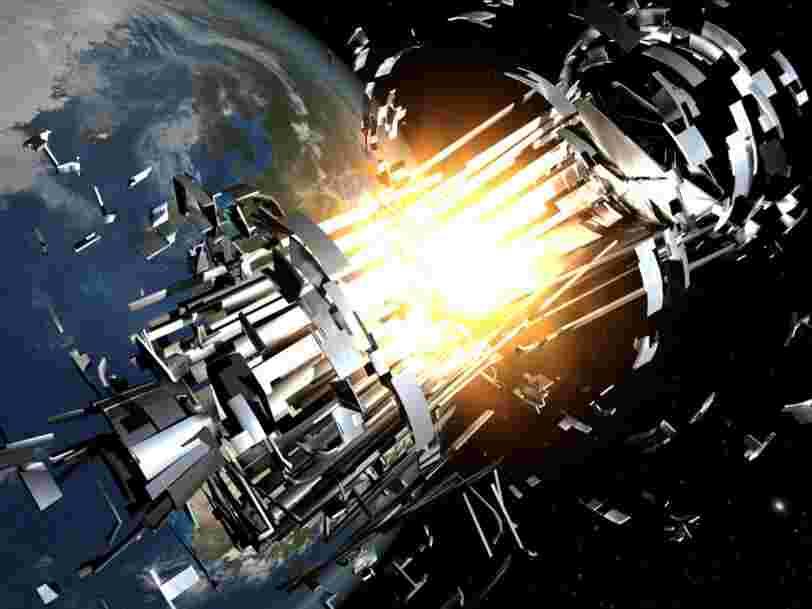 Un satellite mort et un morceau de fusée ont 1 chance sur 10 d'entrer en collision cette nuit