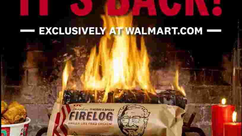 KFC relance sa bûche de bois qui sent le poulet frit pour Noël
