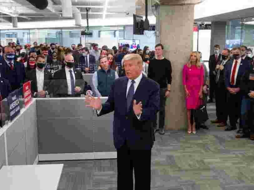 La ligne téléphonique contre les fraudes électorales créée par Trump est submergée de canulars