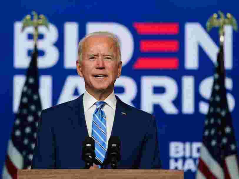 Joe Biden snobe Facebook, Google et Apple pour son arrivée à la Maison Blanche