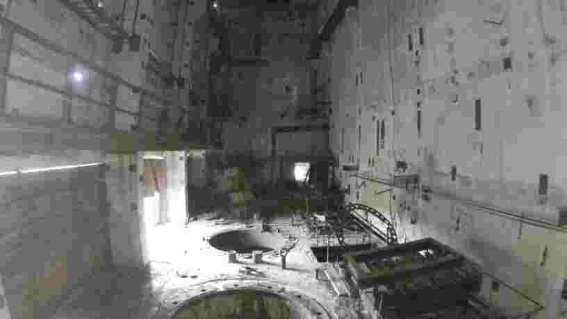 Un drone filme pour la première fois l'intérieur du réacteur n°5 de Tchernobyl, voici la vidéo