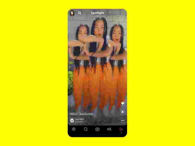 Snapchat lance Spotlight, sa nouvelle fonctionnalité pour concurrencer TikTok