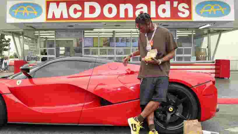 Le rappeur Travis Scott a gagné 20 M$ grâce à son partenariat avec McDonald's