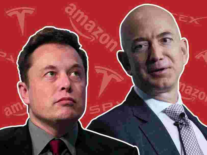 On vous raconte la rivalité entre Jeff Bezos et Elon Musk, les deux hommes les plus riches du monde