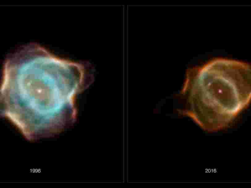 Le téléscope Hubble a immortalisé le déclin 'très étrange' d'une étoile et de sa nébuleuse
