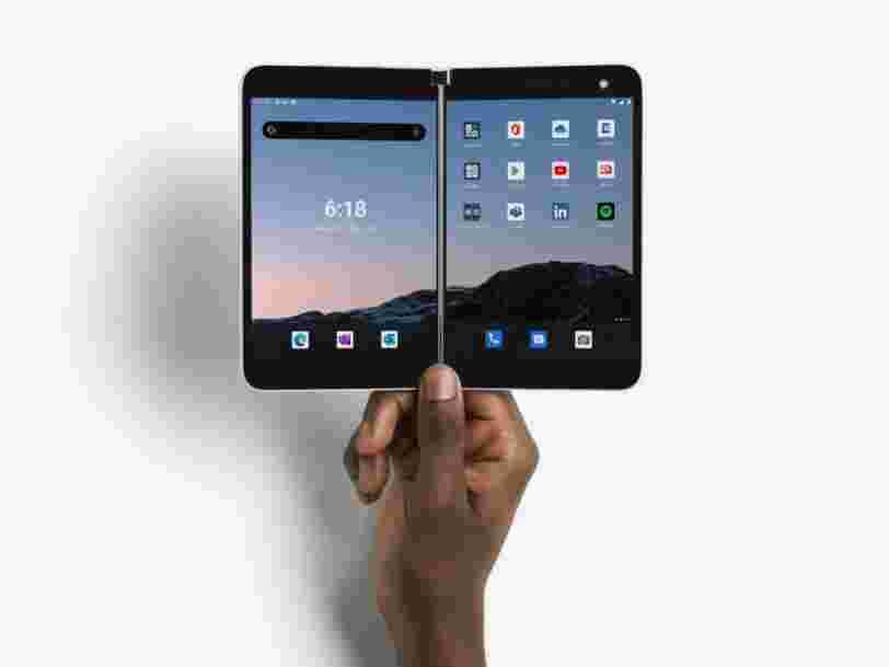 Microsoft va lancer son smartphone pliable Surface Duo en France début 2021