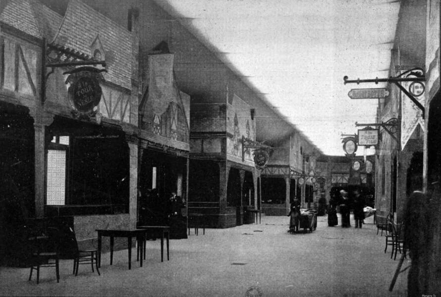 La reconstitution d'une rue au Moyen-Âge