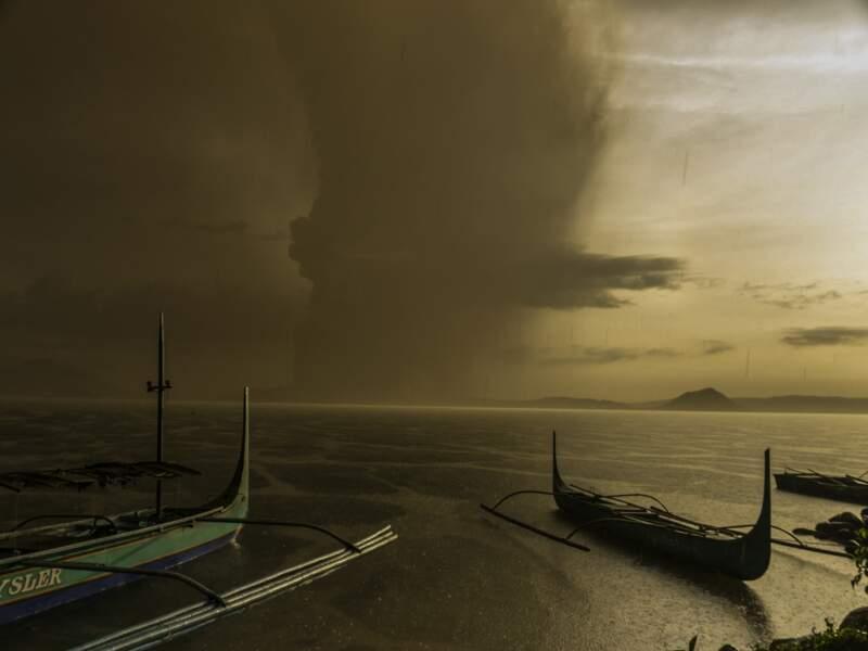 La dernière éruption du volcan Taal date de 1977