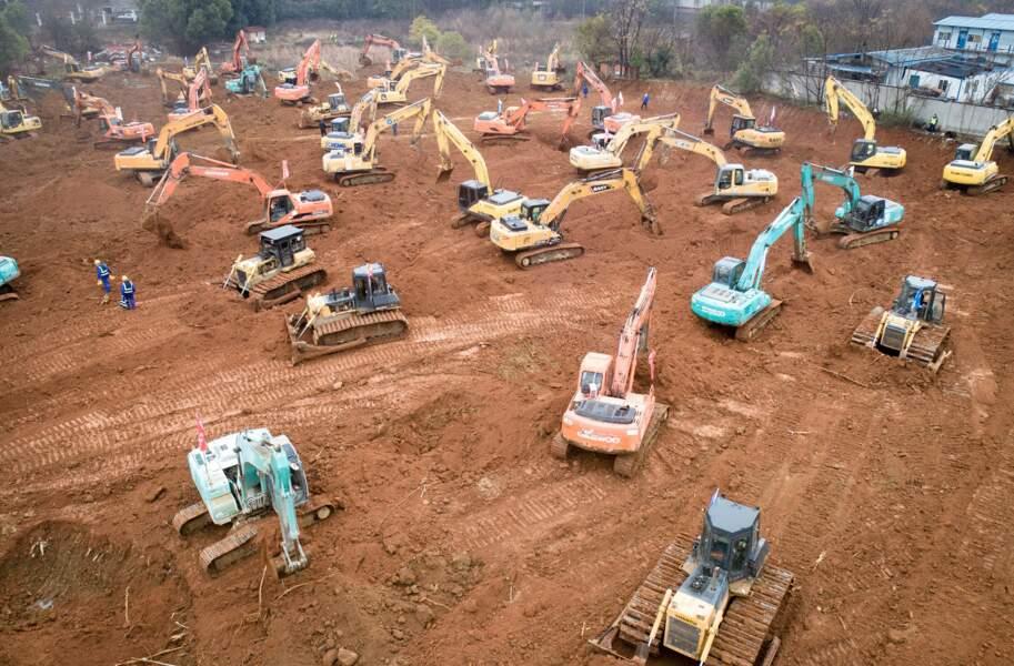 ... pour construire en urgence un hôpital à Wuhan !