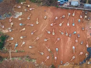La construction en urgence d'un hôpital à Wuhan !