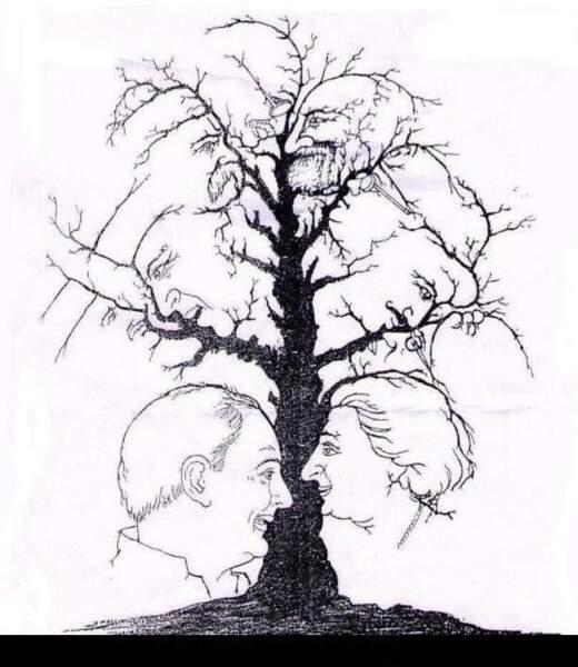 Voici l'arbre à visages !