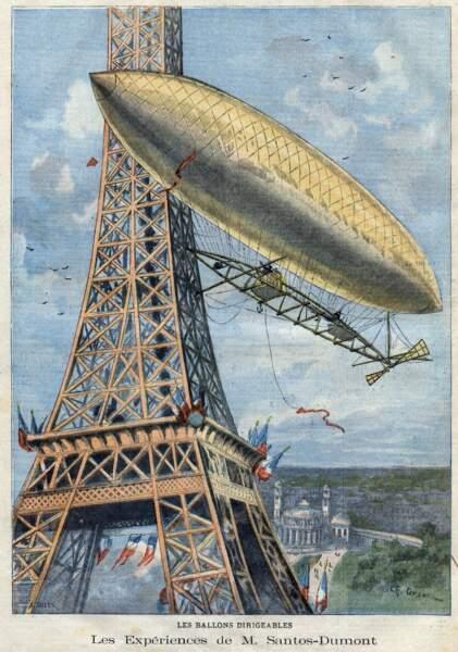 1901 : le dirigeable n°6 de Santos-Dumont