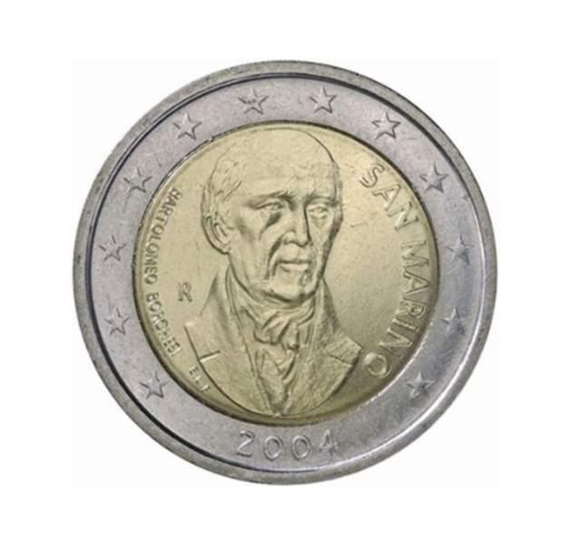 Les deux euros Saint-Marin de 2004, édition Bartolomeo Borghesi