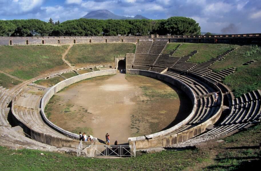 Un amphithéâtre à Pompéi