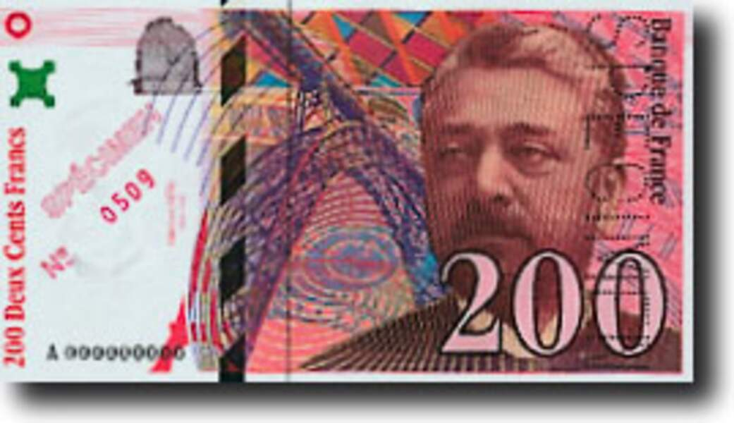Les 200 francs pour Eiffel en 1995