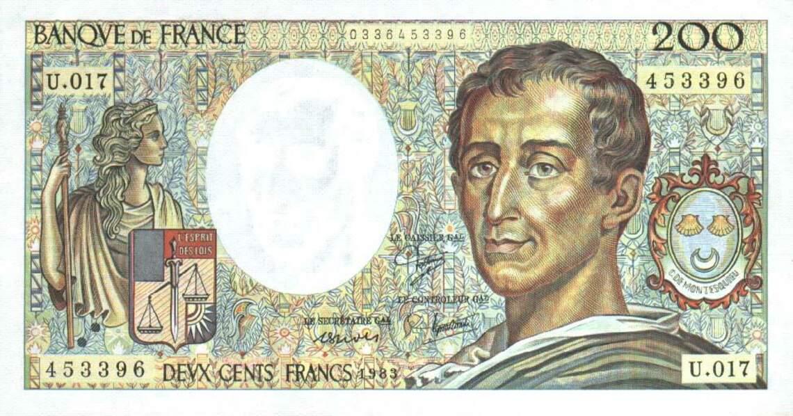 Les 200 francs pour Montesquieu en 1981