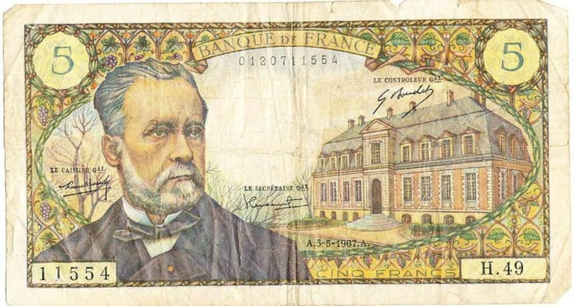 Les 5 francs pour Pasteur en 1966