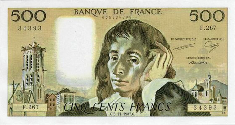 Les 500 francs pour Pascal en 1968