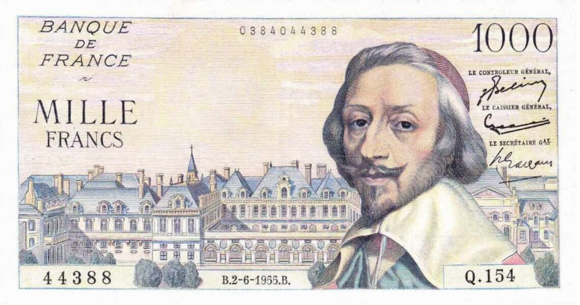Les 1000 francs pour Richelieu en 1953