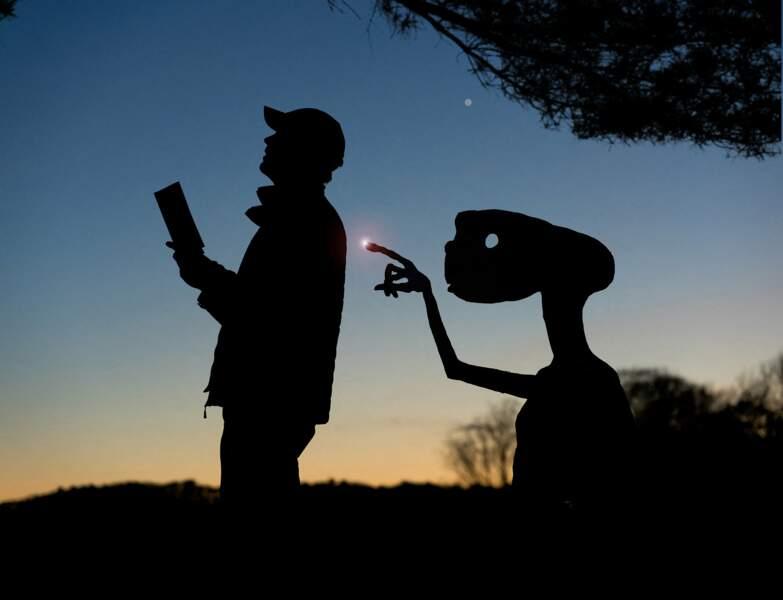 John Marshall et E.T. l'extraterrestre