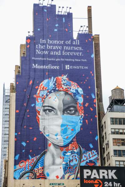 Une infirmière veille sur New York