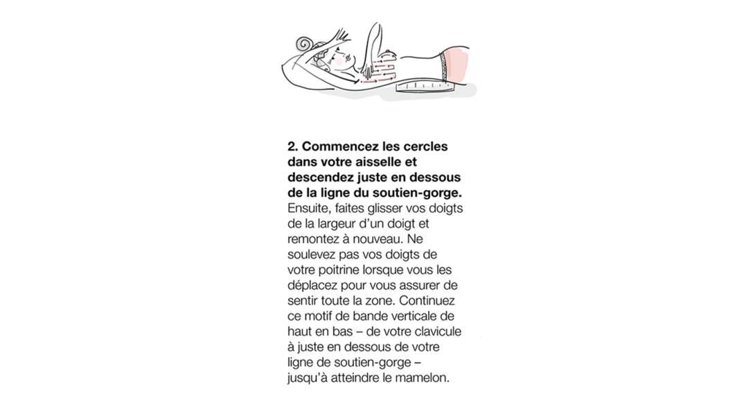 5. Faites glisser vos doigts le long de votre aisselle.