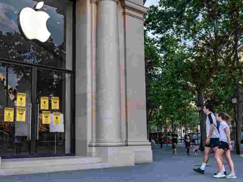 Apple va rouvrir des magasins cette semaine aux Etats-Unis, aucune date connue en France
