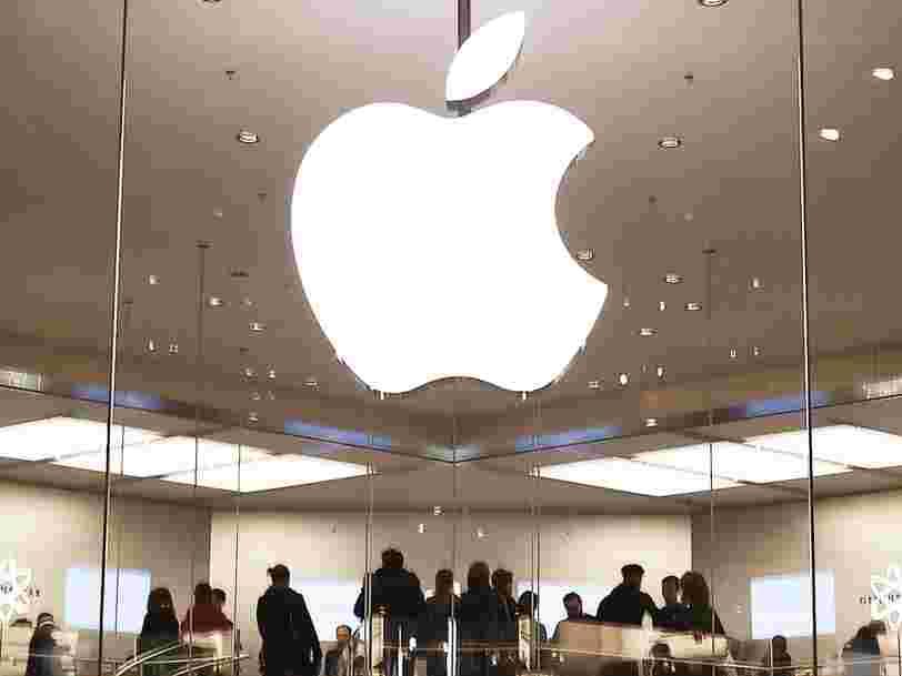 Apple franchit pour la première fois la barre des 100 milliards de dollars de chiffre d'affaires trimestriel
