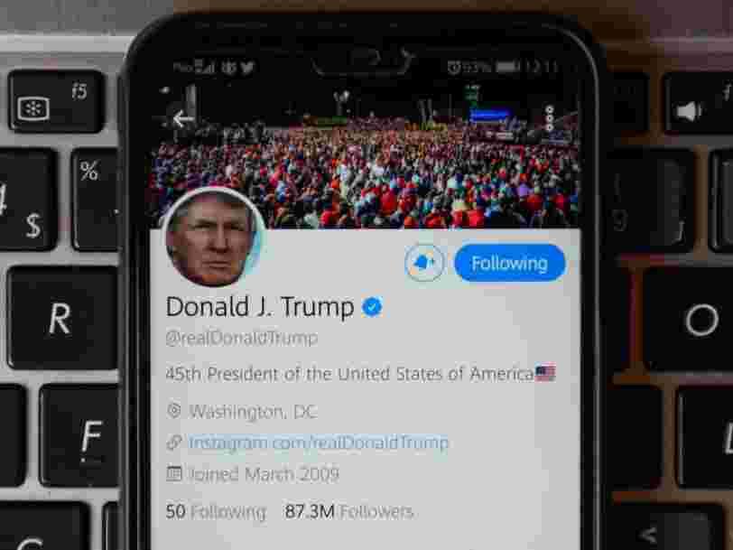 Twitter, Facebook et Instagram bloquent temporairement le compte de Donald Trump