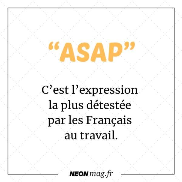 """""""ASAP"""" est l'expression la plus détestée par les Français au travail"""