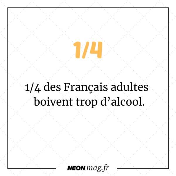 Un quart des Français adultes boivent trop.