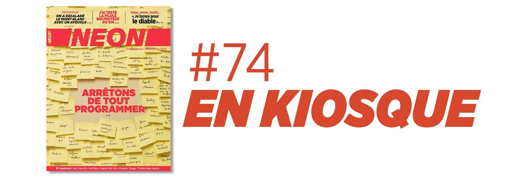 NEON #74 en kiosques