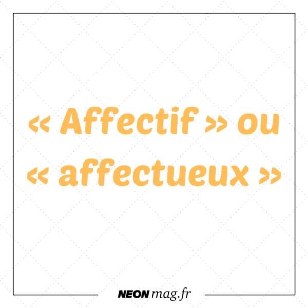 « Affectif » ou « affectueux »