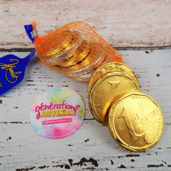 Les pièces en chocolat