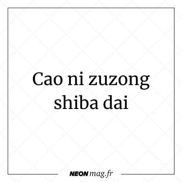 Cao ni zuzong shiba dai