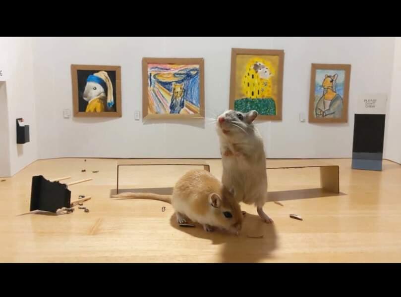 Un couple a créé un mini musée pour ses hamsters