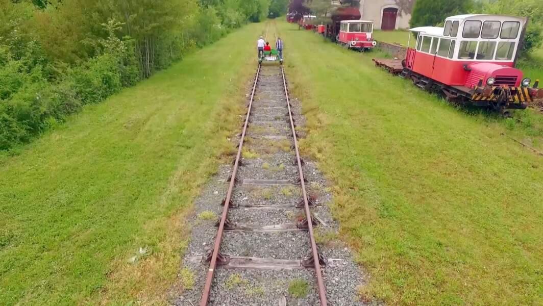 Se faire les mollets sur une ligne de chemin de fer