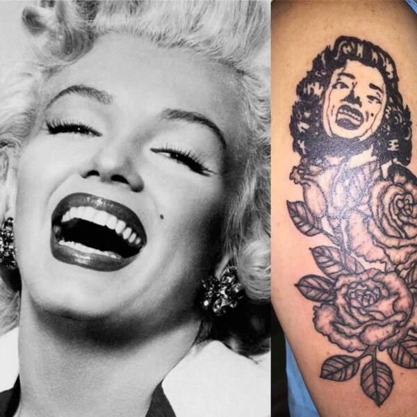 Marilyn Monroe qui marche sur un Lego